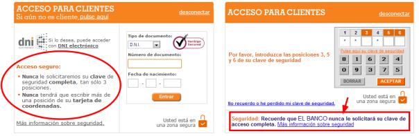 Acceso clientes Banco