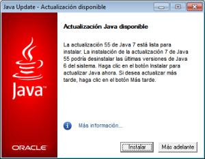 Actualización de Java