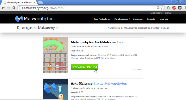 Malwarebytes - Pantalla 3