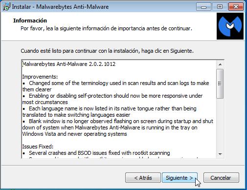Malwarebytes - Pantalla 9